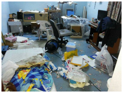 Ali Hasan Al-Maqabi's house after the raid on the day of his arrest