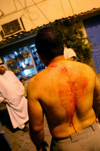 Beating of civilians by special security forces
