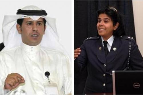 Left: Mubarak Bin Huwail, Right: Noora Al Khalifa